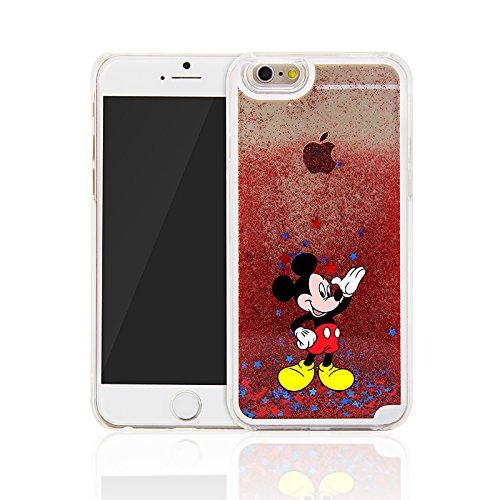 Phone Kandy® Hart Transparent Shell Glitter Stars Sparkle Telefon-Kasten mit Karikatur Hülle Abdeckung Haut tascen (iPhone 6 6s (4.7