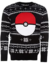 TruffleShuffle Knitted Pokemon Pokeball Fair Isle Christmas Jumper