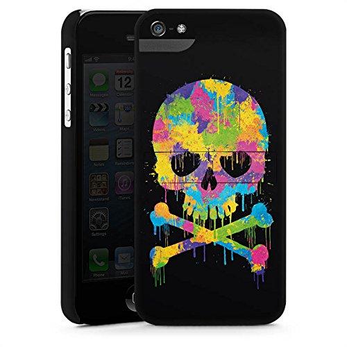 Apple iPhone X Silikon Hülle Case Schutzhülle Skull Watercolour Totenkopf Schädel Premium Case StandUp