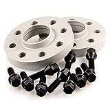 TuningHeads/H&R .0426798.DK.SB-2075725.E46 Spurverbreiterung BlackDrive, 20 mm/Achse + schwarze Radschrauben, 20 mm/Achse
