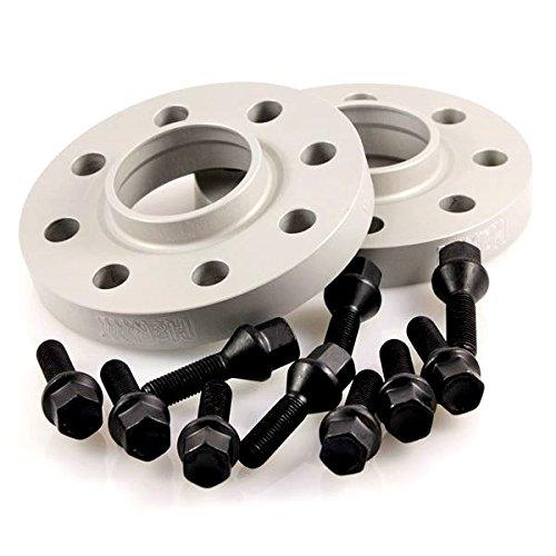 TuningHeads/H&R .0426908.DK.SB-3075725.765-E-65 Spurverbreiterung BlackDrive, 30 mm/Achse + schwarze Radschrauben, 30 mm/Achse