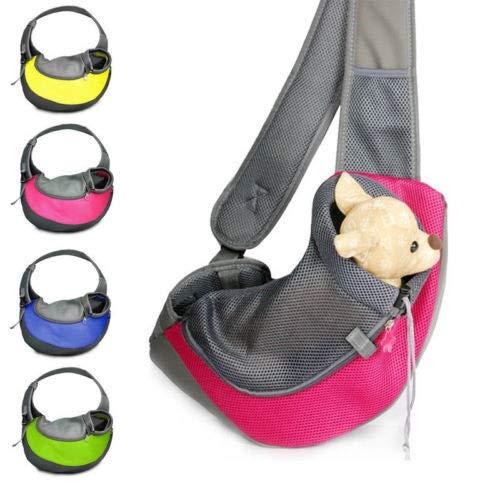 Handtasche Fall (Modisch langlebig faltbar tragbar Mehrzweck Haustier Handtasche Fall Haustier tragen Reisekäfig Tragetasche Hund Katze Kaninchen verwenden können (Color : Yellow, Size : L))