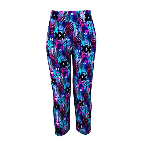 Fulltime® Femmes Yoga Sport Super Doux Spandex Modal Pantalons étirer Cropped Bleu foncé