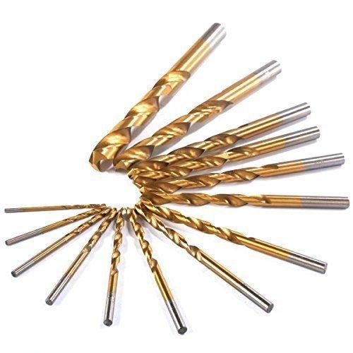 Preisvergleich Produktbild Minkoll Hochgeschwindigkeitsstahlbohrer, Titan überzogenes HSS-Stückchen-gesetztes Werkzeug 1.5-10mm 99pcs/Set