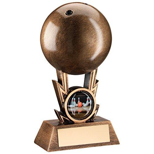 15,2cm Kunstharz Ten Pin Bowling Trophy Kostenlose Gravur bis zu 30Buchstaben