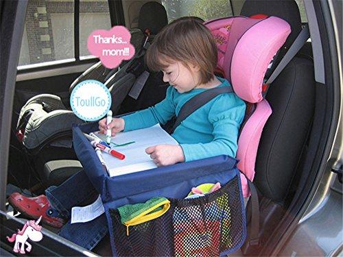 Bambini di viaggio Gioca Tray Table Kids sedile tavolo Vassoio Pieghevoli di sicurezza del bambino auto Kids Play pieghevole & Snack-Vassoio per seggiolino auto disegno impermeabile support per bambini - seggiolino auto, passeggino,vassoio