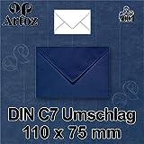 50x original ARTOZ DIN C7 Mini-Umschläge - 100 g/m² // SERIE 1001 // in Geschenkbox! // 110 x 75 mm // Classic Blue - Blau // +alle Farben