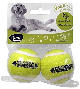 Aime Jouet Balle Tennis Menthe 5 cm pour Chien