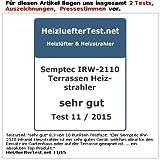 Semptec Urban Survival Technology Infrarot-Außen-Heizstrahler für Deckenmontage IRW-2110, 2.100 Watt - 3
