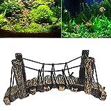 guojiwu 1PC Fish Tank Decor Acquario Ornamenti Resina Ponte Tatuaggi Fish Tank Forniture Accessori Acquario Ornamento per aquairum Pesce Tartaruga Decorazione (B)