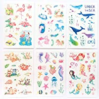 XCVBN Unicorn Stickers Cute Fairy Washi Stickers Adhesive Stickers For Children Diy Scrapbooking Diary Album Kids Toys 6Sheets/Pack