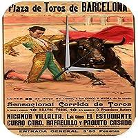 Reloj Pared Agencia Viajes Vacaciones Taurino de Barcelona Torero Plexiglas b914cc75844