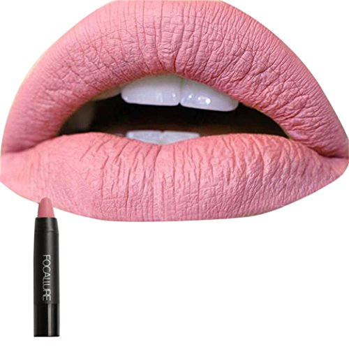 Kosmetik Matte Lip Gloss & Metallic Lip Brillant Feuchtigkeitsspendende langlebige Glanz Lippenstift...