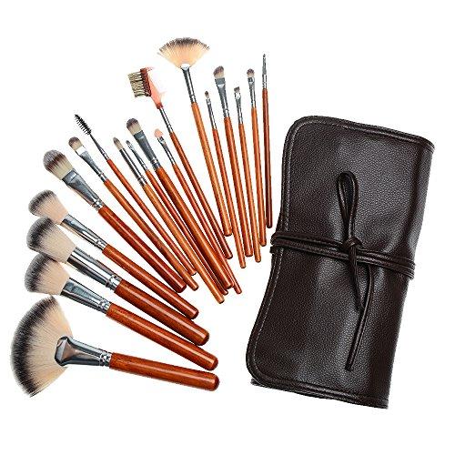 brosses de maquillage fondation synthétique 18 pièces cosmétiques pour les lèvres blush poudre eyeliner fard à paupières de brosses