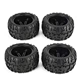 Nghvnm 4Pcs 150mm Cerchione e Pneumatici per 1/8 Monster Truck Traxxas HSP HPI E-MAXX Savage Flux Racing RC Accessori Auto