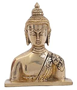 Creative Crafts Brass Lord Buddha Home Decorative Handicraft Gift - L8xW3xH10Cm, Matte Corporate Showpiece Christmas/New Year Gift