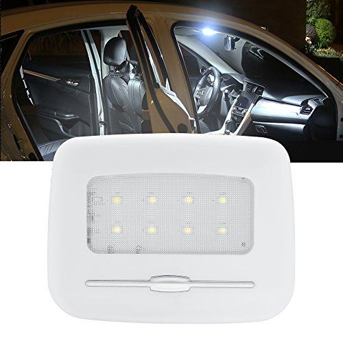 BOGAO LED interni auto cupola luci, coda, luci per auto, luci di lettura, luci targa, piccola luce notturna, porta luci, Adjustbale luminosità - bianco, 6500 K
