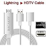 Lightning auf HDMI Adapter Kabel bacaksy Lightning Digital AV Adapter für iPhone Samsung iPad zu Spiegel auf HDTV Projektor Plug und Play MHL Adapter