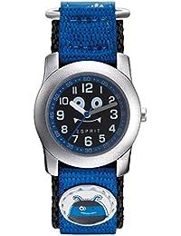 Esprit ES906664009 ESPRIT-TP90666 BLUE MONSTER Uhr Junge Kinderuhr Stoffband Metall 3 bar Analog Blau