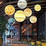 Einkopf-Planetenlicht Kreative Persönlichkeit Nordischer Schlafzimmerleuchter Wohnzimmer Esszimmer Beleuchtung Einfache Erde Kinderzimmer Lampe, B
