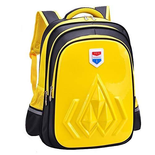 FJQBEIBAO Schulrucksack for Mädchen, Strapazierfähiges Design Und Sichere Aufbewahrung Unisex-Schultaschenrucksack Schulbedarf (Color : Yellow)