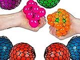 Squeeze Ball in Net, Palla Anti-Stress, 4 Varianti Colore (Blu, Verde, Viola, Rosso), Un Pezzo, indicare preferenza in Ordine