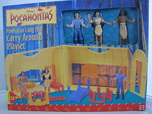 Disney Pocahontas Powhatan Long Hut Carry Around Playset