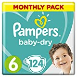 Pampers Baby-Dry Nappies Monthly Saving Pack – Size 6, Pack of 124