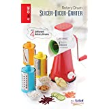 Latest 4 In 1 Drum Grater Shredder Slicer For Vegetable, Fruits, Chocolate, Dry Fruits, Salad Maker With 4 Different Attractive Drums