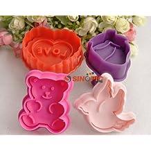 4piezas cortadores de galletas pastel molde para galletas cortador molde Herramientas San Valentín