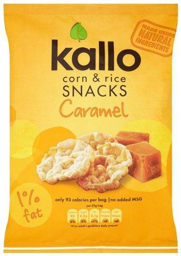 Kallo Caramel Corn & Rice Snacks 25g
