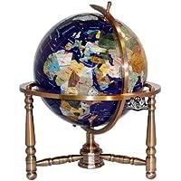 Einzigartige Kunst 19hoch Lapislazuli blau ocean Tisch Top Edelstein World Globe mit Kupfer Ständer w USA geteilten... preisvergleich bei billige-tabletten.eu
