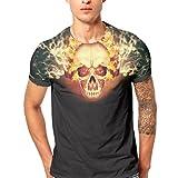 GreatestPAK T-Shirt Männer Herren Schädel Druck Shirt Kurzarm Bluse Tops Tees