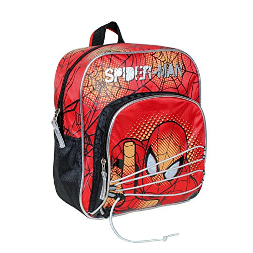 Marvel SPIDERMAN - Zaino scuola asilo elementare 27cm doppia zip applicazioni