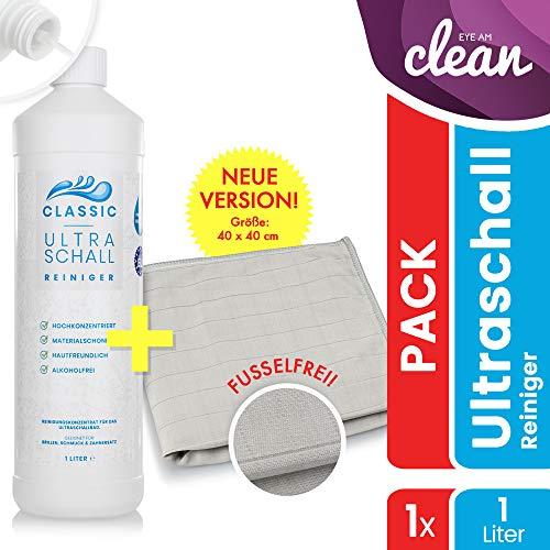 AKTION: Ultraschallreiniger Konzentrat 1000ml inkl. Flaschenausgießer für jedes Ultraschallgerät - Ultraschall Reiniger für Brillen (1 Liter Classic)