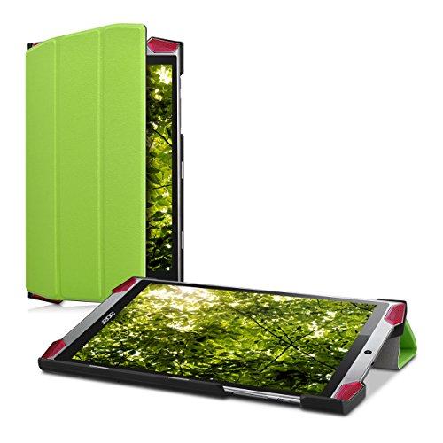 kwmobile 37175.07 Schutzhülle für Tablet 20,3 cm (8 Zoll), mit Kartenfächern, Grün – Schutzhüllen für Tablet (Brieftasche, Acer, Predator 8 (GT-810), 20,3 cm (8 Zoll), Grün)