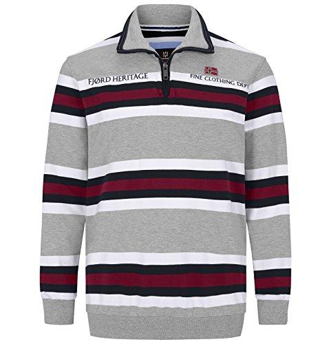 Fett Streifen-baumwoll-shirt (JAN VANDERSTORM Herren Sweatshirt HAGBARD in Übergröße bis 6XL ab 42,99 EUR)