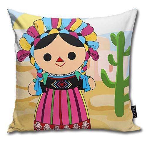 Rasyko Maria 3 (muñeca Mexicana) Funda de cojín para Regalo hogar sofá Cama Coche tamaño: 18 x 18 Pulgadas