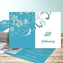 Einladung 50 Geburtstag Frau, Blütenkarte Mit Foto 50 60 Karten, Horizontal  Einfach 148x105 Inkl