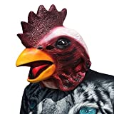 Cock Rooster Huhn Hühnchen Chicken Hahn Kopf Maske mask aus sehr hochwertigen Latex Material mit Öffnungen an Augen Halloween Karneval Fasching Kostüm Verkleidung für Erwachsene Männer und Frauen Damen Herren gruselig Grusel Zombie Monster Dämon Horror Party