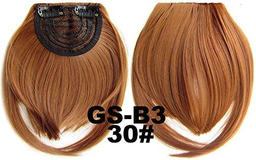# 30 100% fibre synthétique haute température Clip dans/sur cheveux avant frange frange cheveux