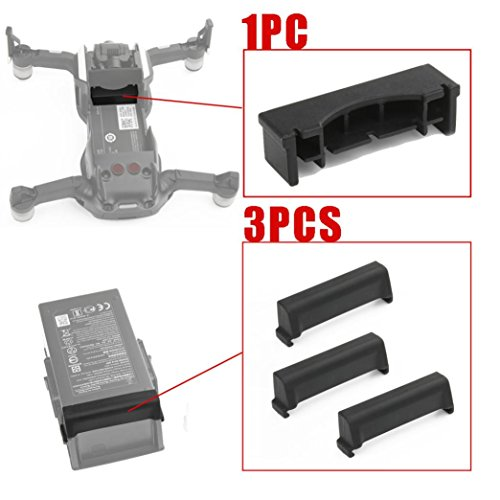 LCLrute Hohe Qualität 1PC For Frame 3PC For Battery Dustproof Plug Cover Protect For DJI Mavic Air One for the fuselage and three for the battery. (A) (Frame-plug)