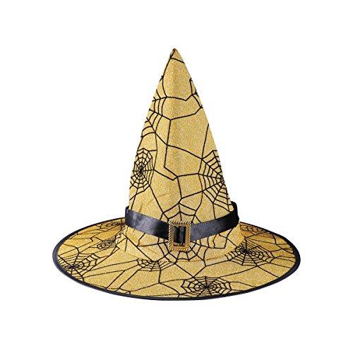 BESTOYARD Spinnennetz Hexe Hut Halloween Party Hut Party Requisiten Halloween Cosplay Kostüme Zubehör Für Kinder ()