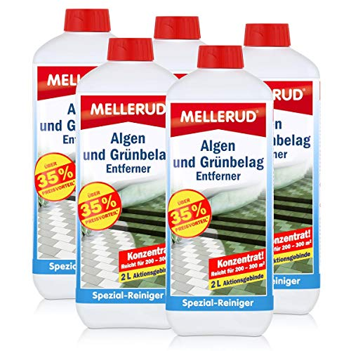 5x Mellerud Algen und Grünbelag Entferner 2L