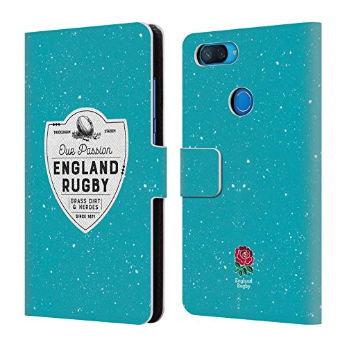 Head Case Designs Offizielle England Rugby Union Grass Dirt and Heroes 2017/18 Erbschaft Brieftasche Handyhülle aus Leder für Xiaomi Mi 8 Lite/Mi 8X