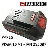 Parkside IAN 285087 - Batteria 16V, 2,0Ah EU 80001189PAP16PKGA 16A1,dispositivo combinato batteria