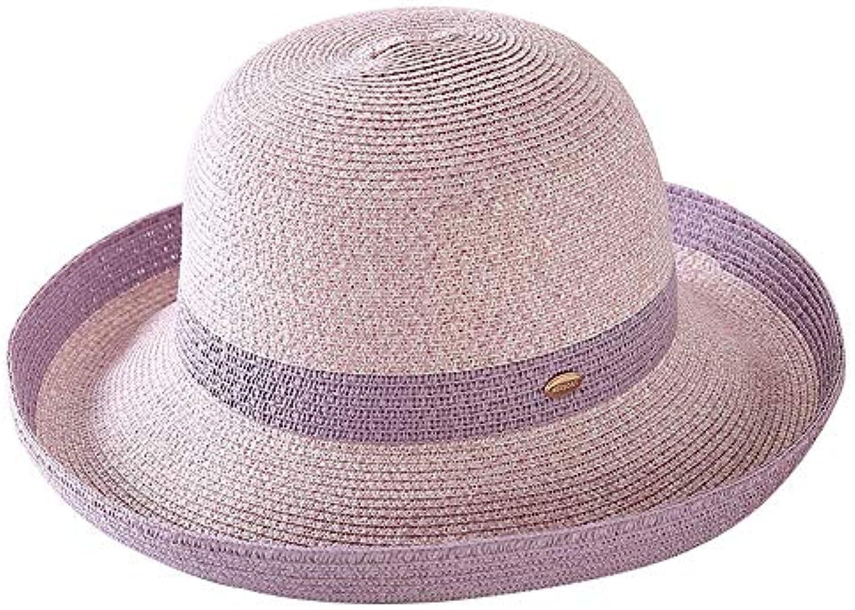 Cappello - Cappello da da Donna in Paglia Cappello Estivo da da Sole  Piccolo Cappello Pieghevole da Viaggio all aperto... Parent 28b32e 851fb37e5ffb