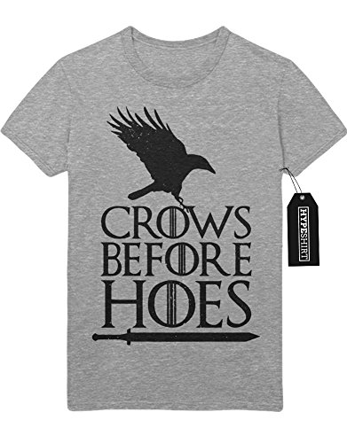 T-Shirt Game of Thrones Crows Before Hoes C980057 Grau L (Game Of Thrones Drachen Lady Kostüm)