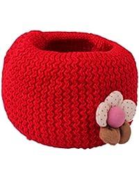 Happy Cherry - Cache-nez/Echarpe Tube en Tricot Cercle Crochet - Tour de Cou Epaisse Chaude Automne Hiver avec Fleur Décor pour Bébé Enfant - 10 Couleur Optique