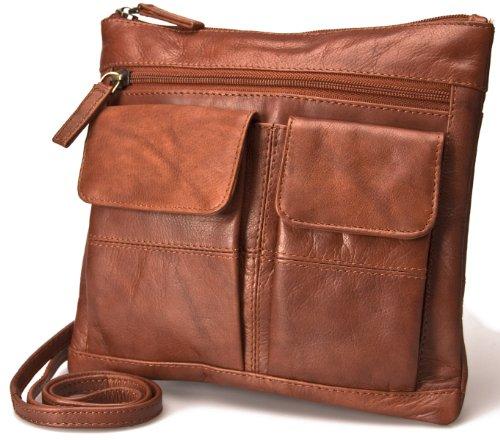 Visconti Atlantic Petit sac à bandoulière pour femme en cuir souple véritable # 18608A
